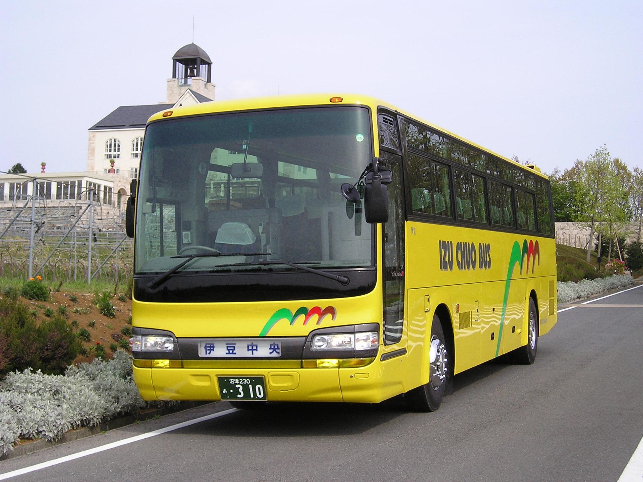 バスの画像をクリックすると詳しい内容が表示されます。 ■伊豆中央バス 車種・装備一覧■ ※車種を